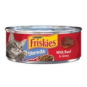 Purina Friskies Savory Shreds with Beef in Gravy Canned Cat Food
