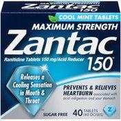 Zantac Maximum Strength Cool Mint Tablets Acid Reducer