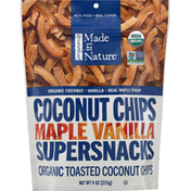Made in Nature Supersnacks, Organic, Maple Vanilla, Coconut Chips