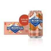 Ice mountain Sparkling Water, White Peach Ginger