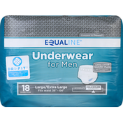 Equaline Underwear, for Men, Large/Extra Large, Maximum Absorbency