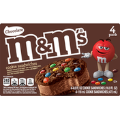 M&M's Cookie Sandwiches, Chocolate, 4 Pack