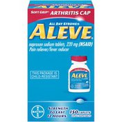 Aleve Soft Grip Arthritis Cap Naproxen Sodium 220mg Caplets Pain Reliever/Fever Reducer