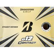 Bridgestone Golf Balls, e12 Contact, Straight Distance,