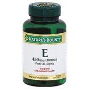 Nature's Bounty Vitamin E, Pure Dl Alpha, Rapid Release Softgels