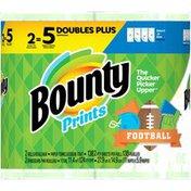 Bounty Select-A-Size Paper Towels, Print, Double Plus Rolls = Regular Rolls