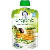 Gerber Organic 2 Nd Foods Organic Peas, Carrots & Beets Baby Food