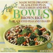 Amy's Kitchen Frozen Bowls, Brown Rice, Black-Eyed Peas & Veggies, Non GMO