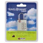 Travel Smart Combination Lock, Inspection Status, Silver