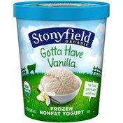 Stonyfield Organic Nonfat Gotta Have Vanilla Organic Frozen Yogurt