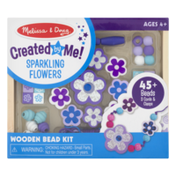 Melissa & Doug Created by Me! Sparkling Flowers Wooden Bead Kit