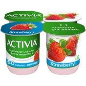 Activia Probiotic Blended Lowfat Strawberry Yogurt