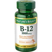Nature's Bounty B-12 1000mcg Coated Tablets - 200 CT