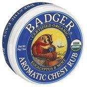 Badger Aromatic Chest Rub, Eucalyptus & Mint