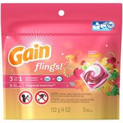 Gain flings! Laundry Detergent Pacs, Tropical Sunrise, 5 count Laundry