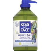Kiss My Face Bath & Body Wash, Sensitive Type, Fragrance Free