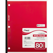 Mead Notebook, 1 Subject, Wide Ruled, 80 Sheets