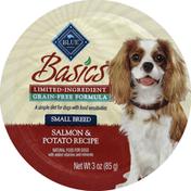 Blue Food for Dogs, Natural, Small Breed, Grain-Free Formula, Salmon & Potato Recipe