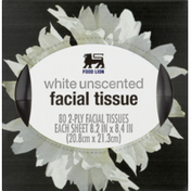 Food Lion Facial Tissue, White Unscented