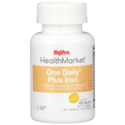 Hy-Vee Healthmarket, One Daily Plus Iron Multivitamin & Multimineral Supplement Tablets