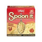 Nissin Spoon it Creamy Chicken Flavor Ramen Noodle Soup - 1 CT
