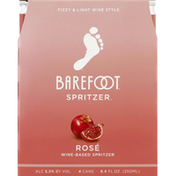 Barefoot Rose Wine 4 Single Serve Cans