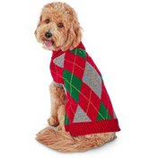 Small Holiday Argyle Pet Sweater