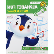 School Zone Workbook, Alphabet Fun, Ages 4-6