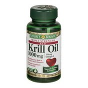 Nature's Bounty Triple Strength Red Krill Oil 1000mg Softgels - 50 CT