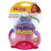 Nûby Sippy Cup, Flip N' Sip, Step 3 (12+ Months), 8 Ounces