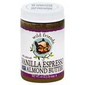 Wild Friends Almond Butter, Vanilla Espresso, All Natural, Jar