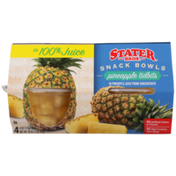 Stater Bros. Markets Pineapple Tidbits In Pineapple Juice From Concentrate Snack Bowls