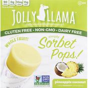 Jolly Llama Pops, Simply Sorbet, Pineapple Coconut