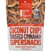Made in Nature Supersnacks, Organic, Toasted Cinnamon, Coconut Chips