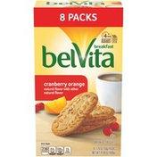 belVita Cranberry Orange Breakfast Biscuits, 8 Packs (4 Biscuits Per Pack)