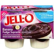 Jell-O Sugar Free Banana Fudge Supreme Reduced Calorie Pudding Snacks