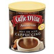 Caffe D'Vita Cappuccino, Hot or Iced, Amaretto