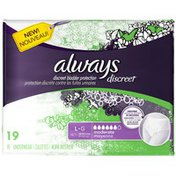 Always Discreet Always Discreet, Incontinence Underwear, Moderate Absorbency, Large, 19 Count  Feminine Care