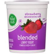 Food Club Strawberry Blended Lowfat Yogurt