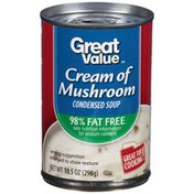Great Value 98% Fat Free Cream of Mushroom Condensed Soup