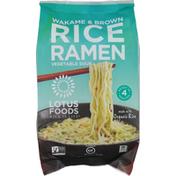 Lotus Foods Rice Ramen, Vegetable Soup, Wakame & Brown