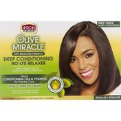 African Pride Deep Conditioning Anti-Breakage No-Lye Relaxer Kit, Regular