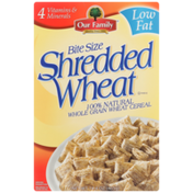 Our Family Shredded Wheat Bite Size Whole Grain Wheat Cereal