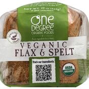 One Degree Organic Foods Bread, Veganic, Flax & Spelt
