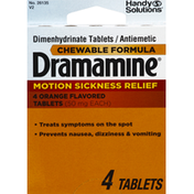 Handy Solutions Dramamine, 50 mg, Tablets, Orange Flavored