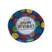 "Amscan Birthday Fever Fun 7"" Round Paper Plates"