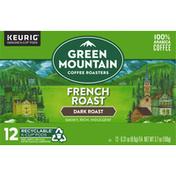 Green Mountain Coffee Roasters Coffee, 100% Arabica, Dark Roast, French Roast, K-Cup Pods