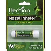 Herbion Nasal Inhaler, with Soothing Vapors, Non-Medicated