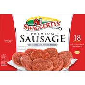 Swaggerty's Farm Sausage Patties, Seasoned Hot, Premium