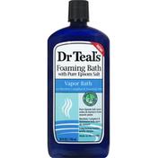 Dr. Teal's Foaming Bath, with Pure Epsom Salt, Vapor